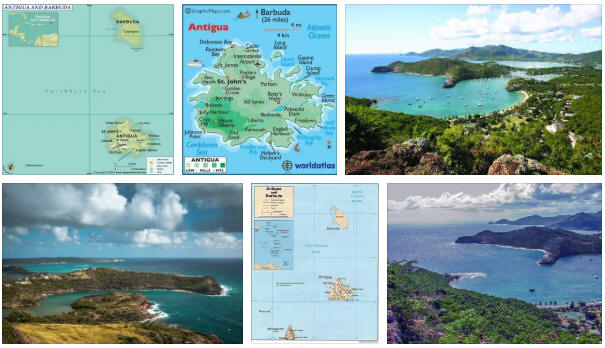 Antigua Barbuda: map