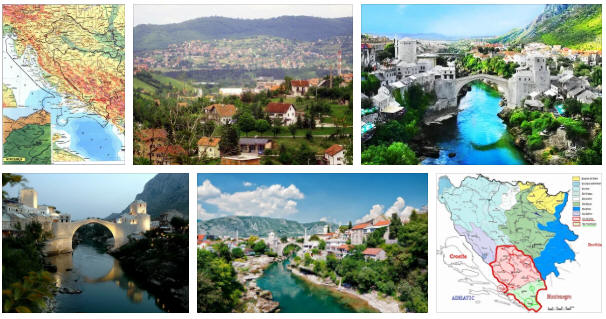 Bosnia Herzegovina: geography, map