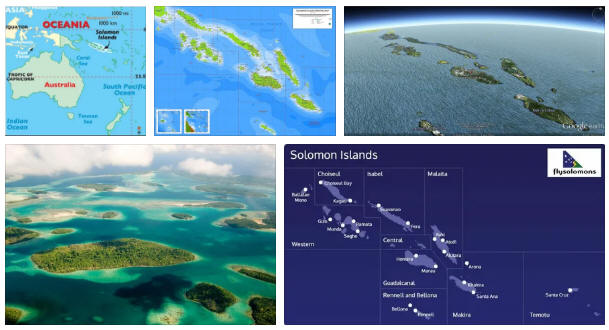 Solomon Islands: Geography and Map