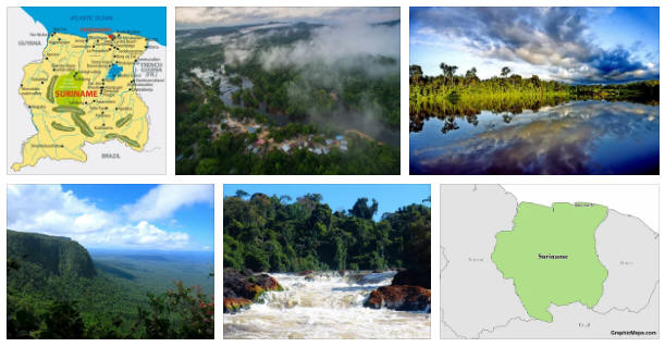 Suriname: geography